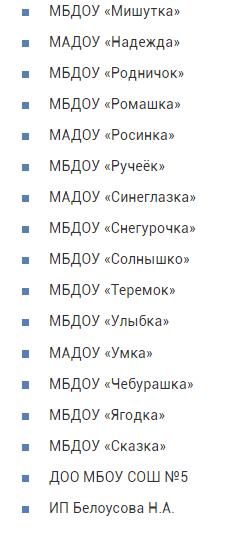 Какие детсады есть в Ноябрьске?